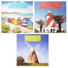 2018 Seaside Scenes Beach Huts Lighthouses Windmills Square Wall Calendar 16 Month Coastal Scenic Home Office Christmas Birthday Gift