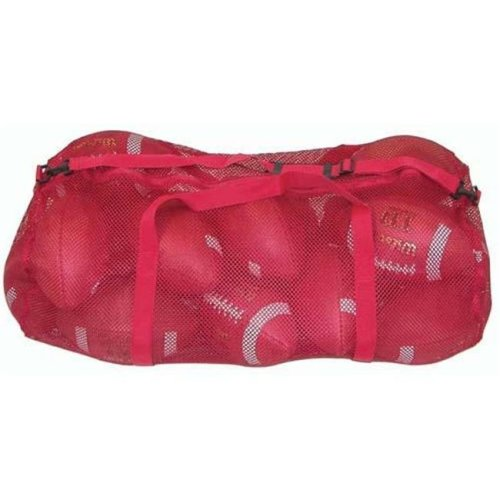Olympia Sports BC082P 36 in. x 15 in. Zippered Mesh Bag - Red