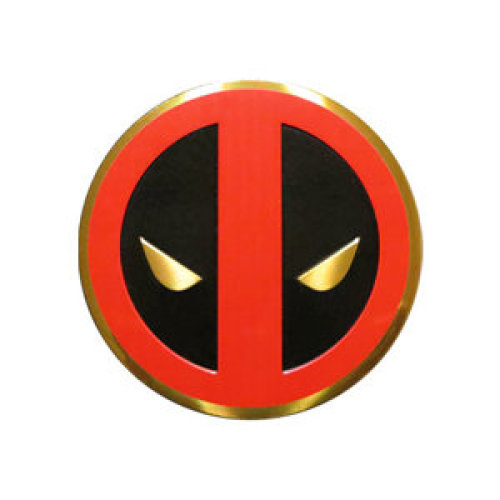 Sticker - Marvel - Deadpool - Icon on Gold Metal 5cm New Toys s-mvl-0030-m