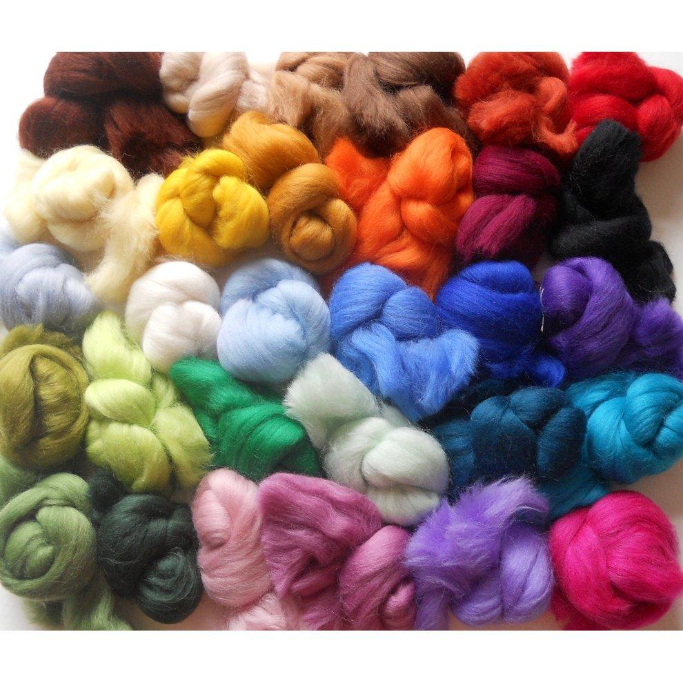 Merino Wool Tops - VARIETY PACK - 30 Colours