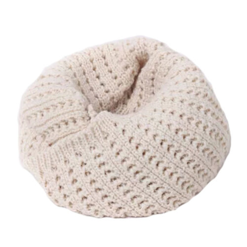 Knitted Loop Scarf - Beige