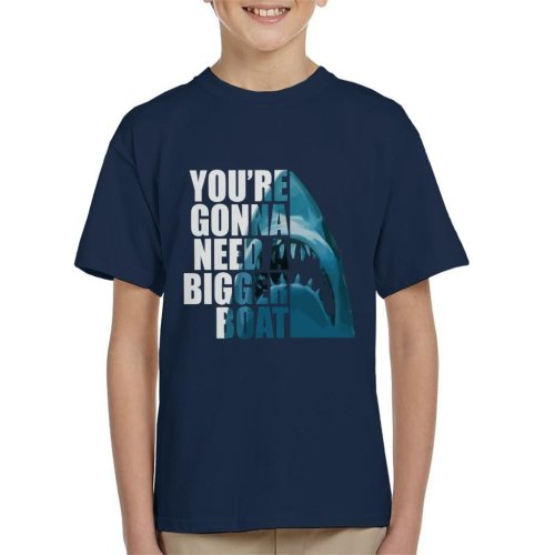 Jaws Half Head Text Kid's T-Shirt