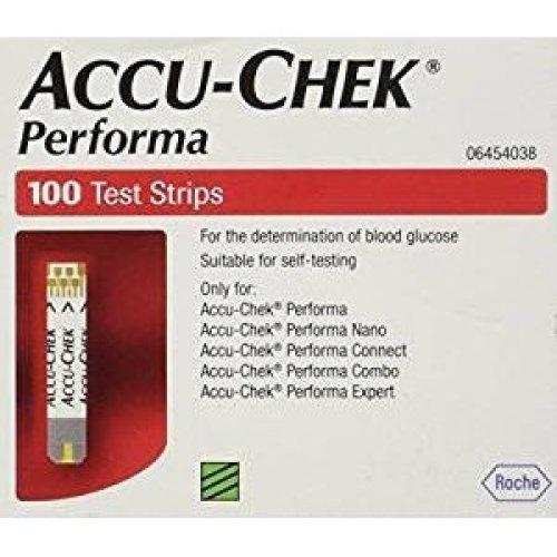 Accu Chek Performa Glucose Test Strips - Pack of 100
