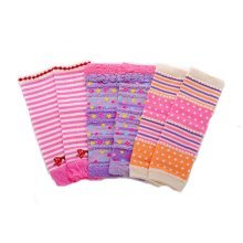 Baby Cotton Socks Baby Leggings Comfy Leg Guards,3 Sets?Pink and Purple )