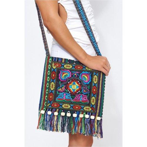 f9044e7fa Indu Embroidered Boho Messenger Bag on OnBuy