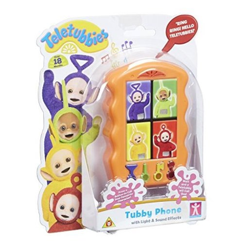 Teletubbies Tubby Phone Toy (Multi-Colour) Telephone With Light & Sound Effects