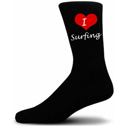 I Love Surfing Socks. Great Christmas Giftware