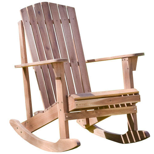 Plant Theatre Adirondack Hardwood Rocker | Wooden Garden Rocking Chair