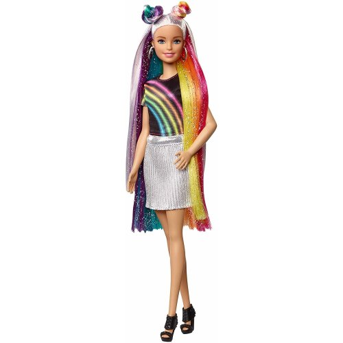 Barbie FXN96 Rainbow Sparkle Hair Doll