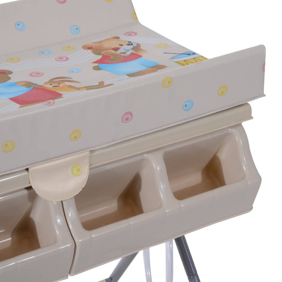 Qualified Baby Infant Changing Table Unit Rolling Bath Station Storage Foldable Trays Tub Baby