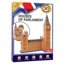 Build Your Own 3d Puzzle Model Kit - Houses of Parliament (116 Pieces)