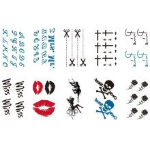 10 Sheets Fashion Body Art Stickers Removable Waterproof Temporary Tattoos ( E )