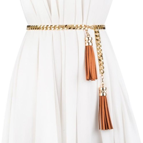 Belts for Women metal Chain Stretchy Strap Elegant Waist Belt Metal Designer thin Belts ceinture femme