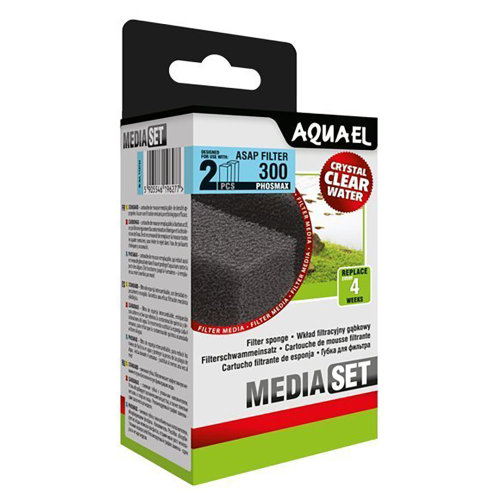 Aquael ASAP 300 Replacement Sponge with Phosmax x2