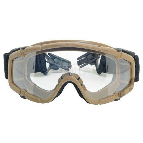 Airsoft Paintball Ops Core Jump Helmet Rail Clear Si Goggles Glasses Tan Sand De