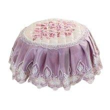 Beautiful Round Stool Cushion European Style Stools Pad Light Purple