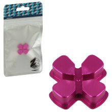 ZedLabz aluminium alloy metal directional d pad arrow button for Sony PS4 controllers - pink