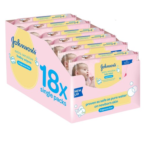Johnson's Baby Extra Sensitive Fragrance Free Newborn Wipes - Total 1008 Wipes