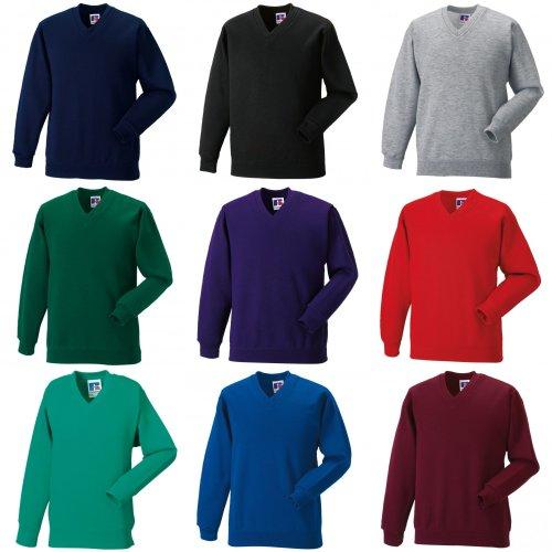 Jerzees Schoolgear Childrens V-Neck Sweatshirt