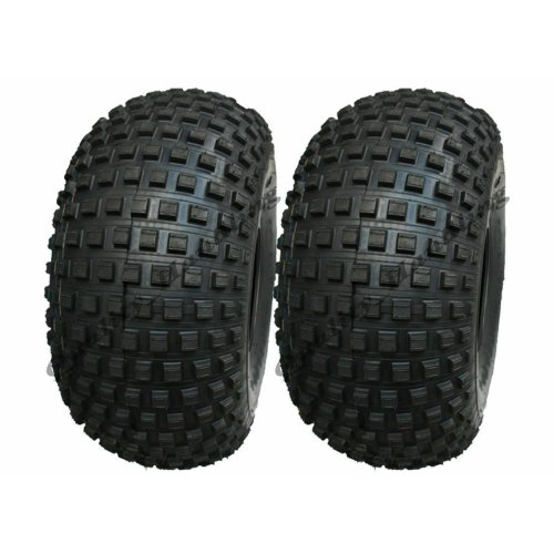 22x11.00-8 Knobby ATV tyre, Quad trailer 22 11 8 tire 4 ply, set of 2