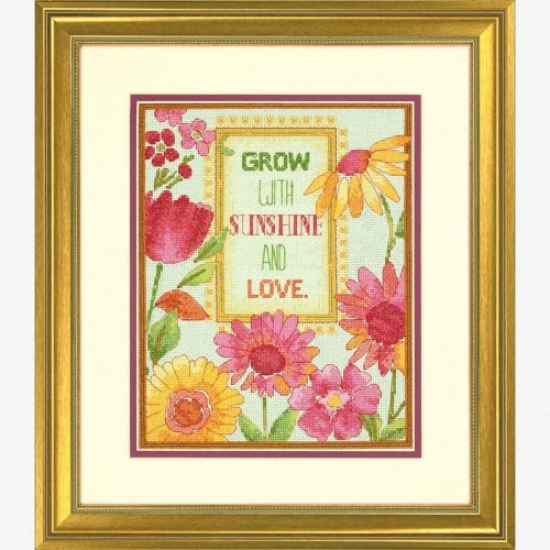 D70-35303 - Dimensions Counted X Stitch - Painted Daisy Verse