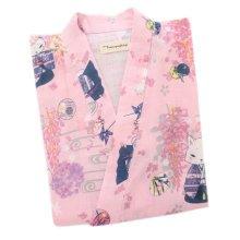 Japanese Style Women Thin Cotton Bathrobe Pajamas Kimono Skirt Gown-A14