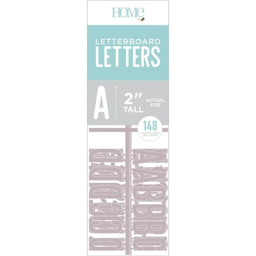 """Dcwv Letterboard Letters & Characters 2"""" 148/Pkg-Gray"""