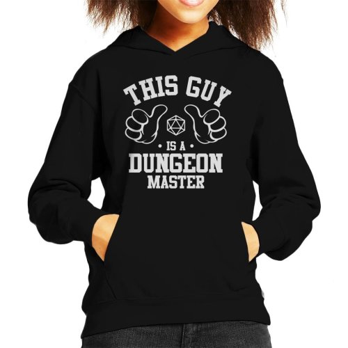 This Guy Is A Dungeon Master Kid's Hooded Sweatshirt