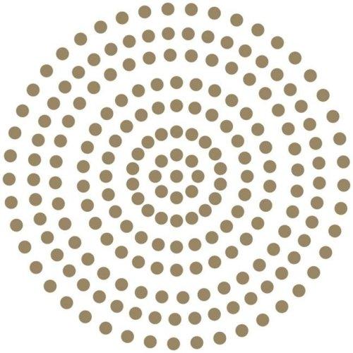 3 mm Self Adhesive Pearls - Glamorous Gold, 206 per Pack