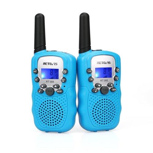 Retevis RT388 Kids Walkie Talkie PMR446 8 Channels Flashlight VOX 10 Call Tones Childrens Walkie Talkie Boys Girls Garden Toys Kids Walkie Talkie...