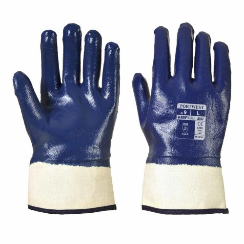 sUw - Fully Dipped Nitrile Safety Cuff Glove (1 Pair Pack)