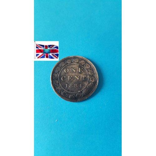 "Canada 1884 ""1 Cent - Victoria"