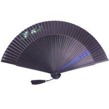Chinese Japanese Hand Fan Silk Folding Fan Hand Held Fan Gift, B