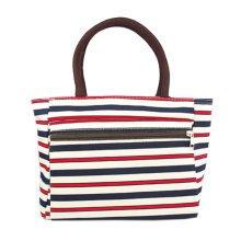 Creative Purse Handbag Printed Tote Bag With Zipper For Ladies Stripes
