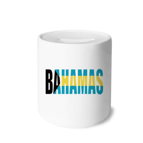 Bahamas Country Flag Name Money Box Saving Banks Ceramic Coin Case Kids Adults