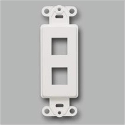 Cables To Go 03721 DECORATIVE 2-PORT MULTIMEDIA KEYSTONE INSERT - WHITE