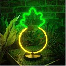 Global Gizmos 30cm Retro Pineapple LED Neon Light