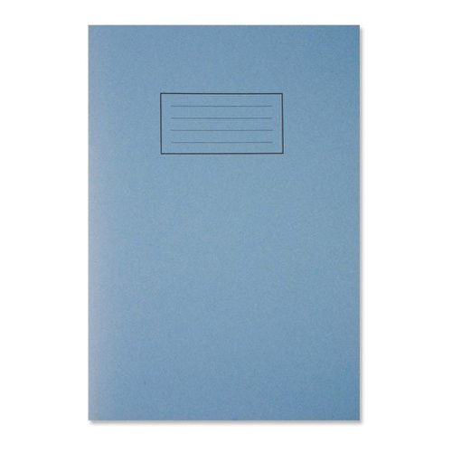 Silvine Ruled Exercise Book / A4 / with Margin / 80 Pages / Blue /