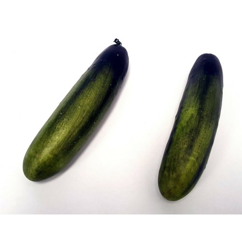 Pack of 2 Artificial Cucumbers - 20cm - Green Fake Plastic Fruit & Vegetables