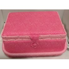 HobbyGift Medium Sewing basket - Spotty Pink - 26.5 x 19.5 x 14cm
