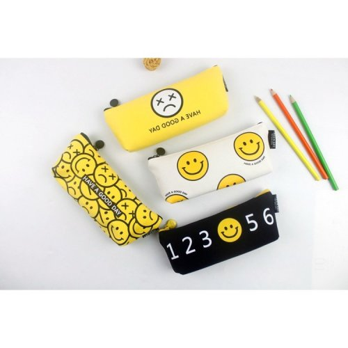 Emoji Canvas Pencil Case