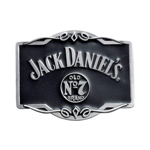 Jack Daniels Rectangle Scroll Belt Buckle in Presentation Tin