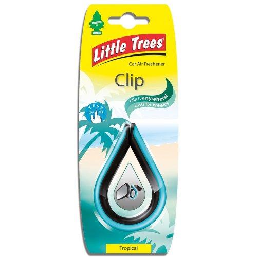 Little Trees LTC005 Clip - Air Freshener - Tropical Fragrance, 1 unit