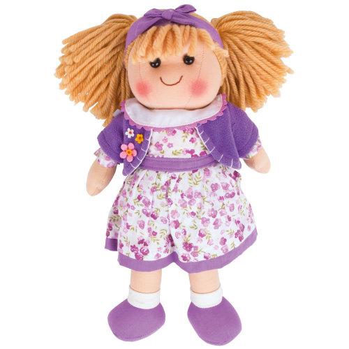 """Bigjigs Toys Laura Doll 34cm (13"""") - Ragdoll Cuddly Toy"""
