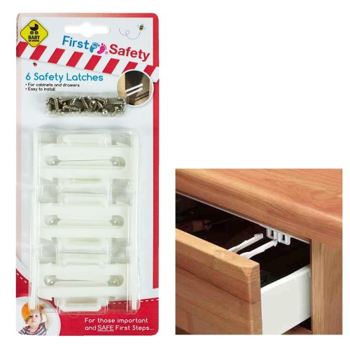 Pack of 6 Cupboard Locks - Home Safety Baby & Child Proofing