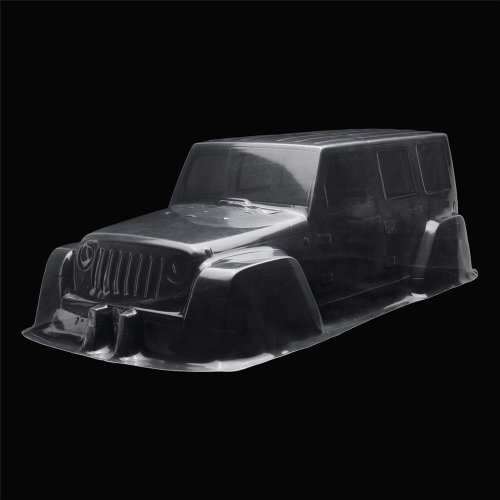 1/10 Clear Transparent PVC 313mm Wheelbase RC Car Body Shell for Jeep D90 Model