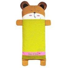 Bear Cartoon Pattern Cotton Small Pillow Case Soft Pillow Cover, Green