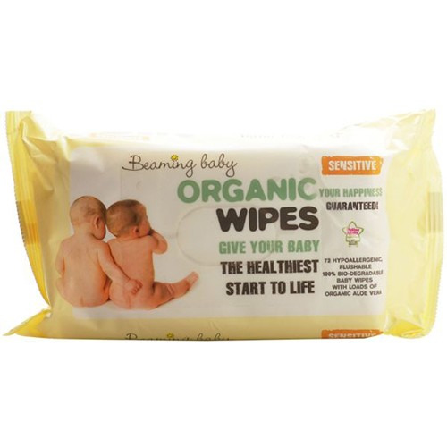 Beaming Baby Organic Babywipes Unfragranced 72 Wipes