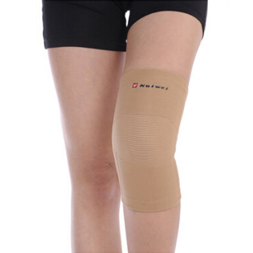 Set of 2 Men Women Sports Elastic Knee/Elbow  Pads Protector Skin Color
