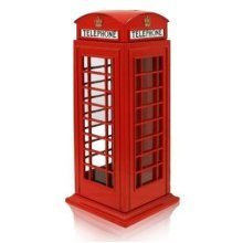 Red Telephone Box Money Box Die Cast Metal UK London Souvenir Gift Bank Coins